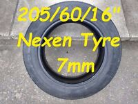 """Excellent 205/60/16"""" Nexen Tyre 7mm"""