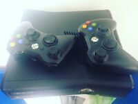 Xbox 360 including 2 controllers and games - only been used a few times