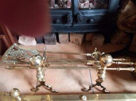 antique fireside set