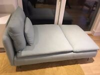 Chaise Longue/small couch - Ikea in light blue turquoise