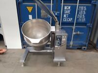 GROEN DH 40 Floor kettles pan self contained GAS heated steam source boiling pan