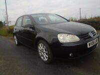 06 volkswagen golf 2.0 GT tdi t diesel 5 dr black 6 speed 140 b h pwr 1 owner v clean full s h