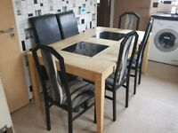 kitchen dinning table and four chairs