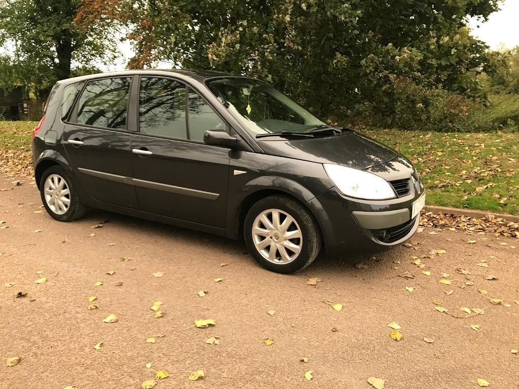 2007 Renault scenic dynamic 1.6 VVT in grey 6mths mot vgc