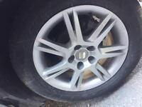 "Seat Ibiza 6j Toledo 15"" alloy wheels tyres 2012"