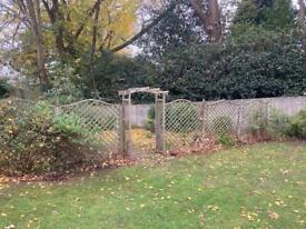 Garden panelled trellis