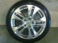 ALLOYS X 4 OF 17 INCH GENUINE MERCEDES C/CLASS/E/CLASS FULLY POWDERCOATED INA STUNNING SHADOW CHROME