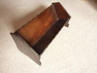 Vintage Solid Oak Book Stand