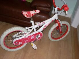 "Girls 16"" Bicycle ""Cherries"" from Halfords"