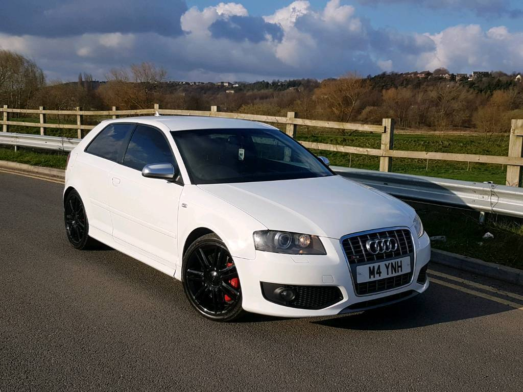 2006 56 audi s3 2 0 tfsi quattro manual 3 door white stage 1 remap modified sat nav leathers. Black Bedroom Furniture Sets. Home Design Ideas