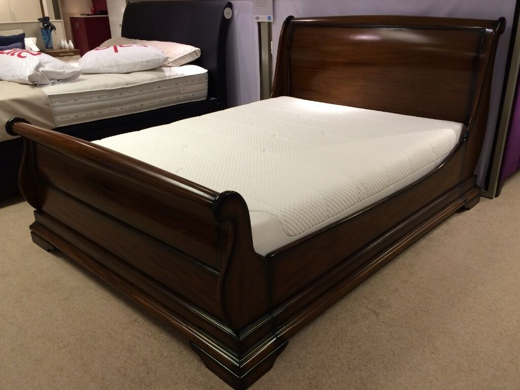 brand new loxley king size sleigh solid mahogany bed frame - Mahogany Bed Frame