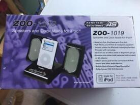 Speakers and dock for iPod