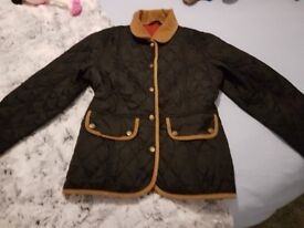 barbour quited jacket age 13/14