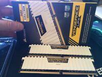 16Gb Corsair Vengeance DDR4 RAM 3200mhz white