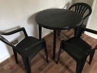 Garden table chair