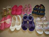 Bundle of girls summer shoes size 12