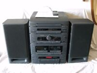 GOODMANS 6350 HIFI SYSTEM WITH RECORD PLAYER, CD PLAYER, DUAL CASSETTE DECK, TUNER
