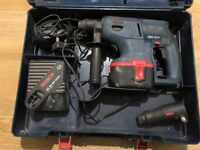 BOSCH GBH 24V sds hammer drill, battery and charger
