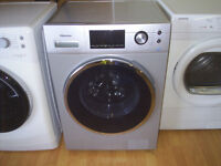 HISENCE SILVER INVERTER WASHING MACHINE 8 KG / 1400 SPIN free local delivery