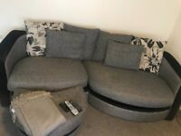 4 seater Sofa and foot stool