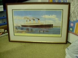 RMS TITANIC signed prints for sale