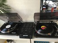 Newmark turntables with Gemini mixer