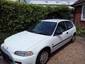 Honda civic 1.5 automatic petrol 1993 full mot 58,000 miles 1,000 ono