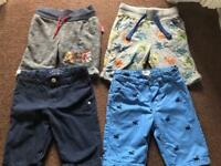 5x pairs boys shorts clothes bundle 3-4 years