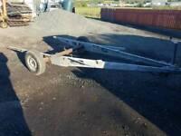 Caravan chassis braked trailer