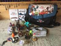 Wii Disney infinity collection and carry bag