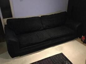 4 seater Black sofa