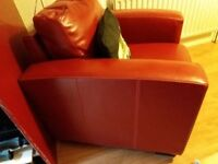 New red leather furniture land clubstyle armchair
