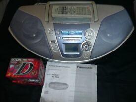 Panasonic CD/Tape/Radio, some new tapes