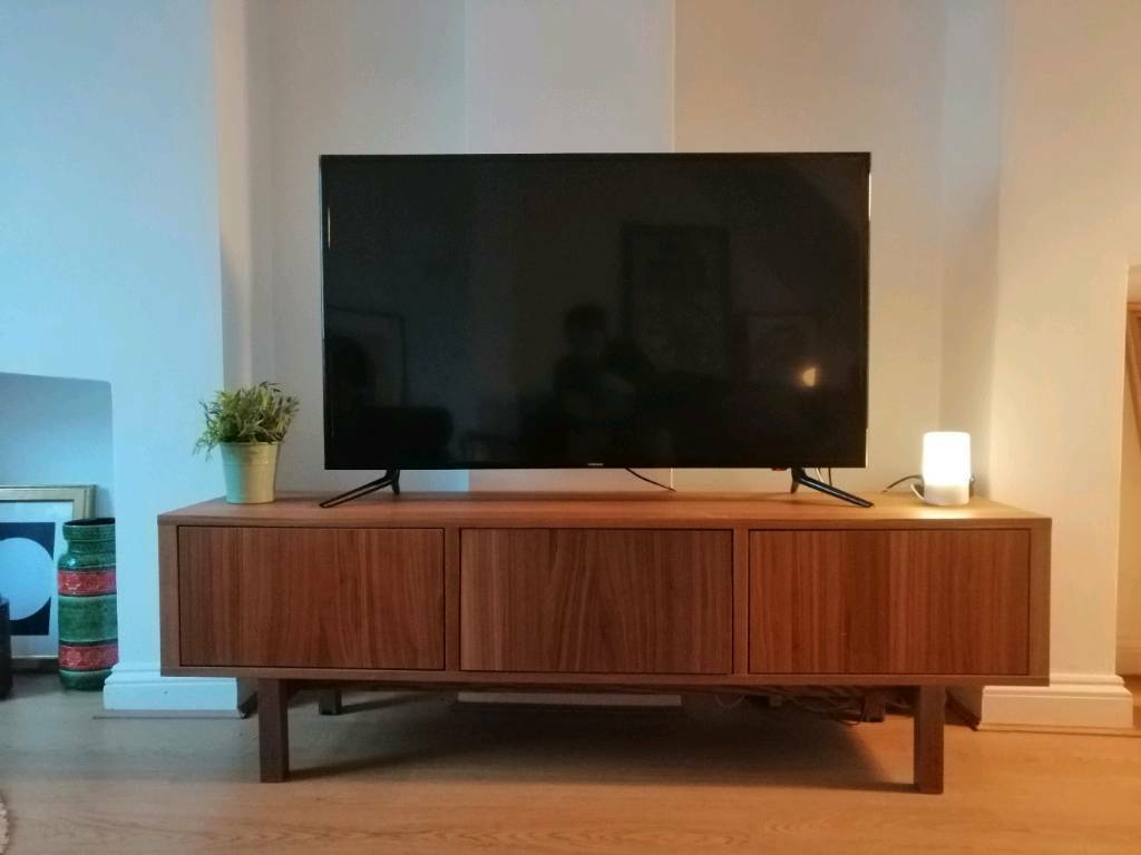 Ikea Walnut Credenza : Ikea stockholm tv stand bench in pontcanna cardiff gumtree