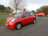 NISSAN MICRA VISIA HATCHBACK 3 DOOR STUNNING RED NEW SHAPE 2009 BARGAIN ONLY £1450 *LOOK*PX/DELIVERY
