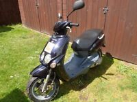 Blue Yamaha Scooter, new MOT, reasonable condition for year, £225 ono