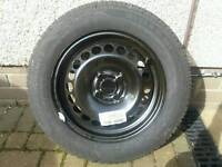 Corsa-D spare wheel and tyre, Both new and unused