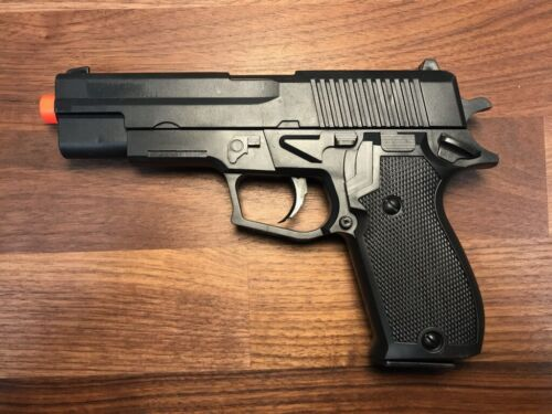 Airsoft Gun Ukarms P2001 Black Spring Powered 1911 Style Pistol 6mm BB BBs