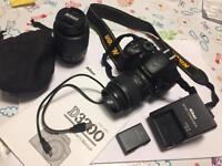 Nikon D3200 DSLR Camera - v low shutter count, lenses and extras