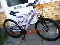 "LADIES SABRE BIKE HARDLY USED IN GREAT WORKING ORDER 18"" FRAME"