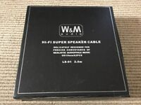 W&M Audio LS-01 loudspeaker cables