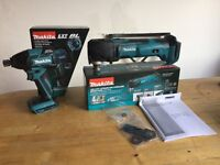 new makita 18v brushless impact driver dtd129 + newest multitool dtm51. dtd129z+dtm51z. bare tools