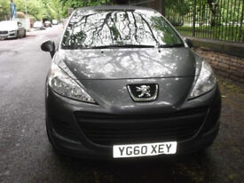 Peugeot 207, 2010, Manual, 1.4 cc, 2 Doors, Grey, 33500 mils, MOT, low cost tax & insurance. £2950.