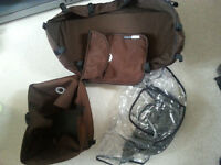 COMPLETE BROWN FABRIC SET FOR BUGABOO CAM 1,2 & 3