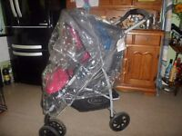 PRAM GRACO PINK/GREY with FOIL FOR SALE-VERY GOOD CONDITIONS.
