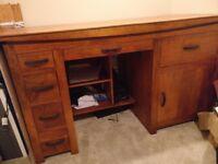 Large Solid Teak Desk (reduced)