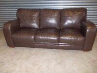 Brown Leather 3-1-1 Suite