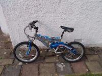 "Silverfox bike cycle bicycle SFX O3 Next Generation Bigfoot child 20"" wheels £52.00"