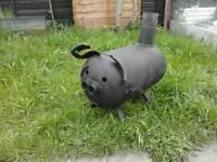 Patio heater patio pig wood burner