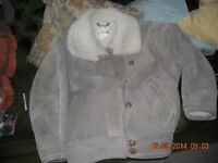 Ladies real suede jacket with lambs wood lining